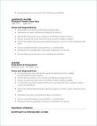 Example Of Resume For Waitress Sample Waitress Resume Restaurant