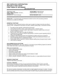 Best Bank Teller Resume Samples Job Description Resume Throughout