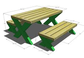 innovative picnic table size ana white build a modern kids picnic table or x benches diy