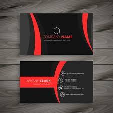 business card template designs dark modern red black business card template vector design illus