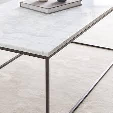 streamline coffee table marble
