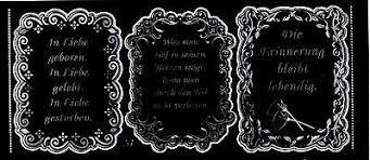 Aufkleber Sticker Bogen 3 Rahmen Sprüche Trauer Beileid Schwarz Silber 561