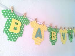 Baby Shower Banner Onesie Baby Shower Banner Gender Neutral Yellow By Bubblynewyork