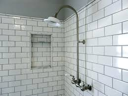 full size of subway tile shower niche with black accent wall panels large white bathrooms good