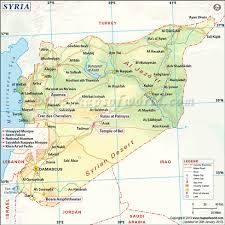 syrian desert physical map. Modren Syrian The Syrian Physical Features Includes Borders With Lebanon And The  Mediterranean Sea Country Consists Mostly Of Arid Plateaus Inside Desert Physical Map