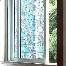 window privacy decorative s orchid stained glass stickers home decoration for front doors