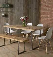 industrial reclaimed dining room set tstwoodfurniture