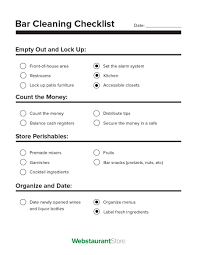 40 Printable House Cleaning Checklist Templates Template Lab