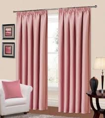 Living Room Ready Made Curtains Plain Baby Pink Colour Thermal Blackout Bedroom Livingroom