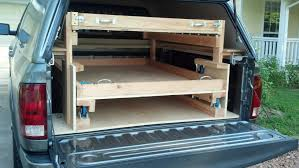 homemade long drawer slides google search truck bed