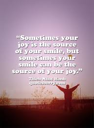 Sometimes Your Joy Is The Source Of Your Smile Quotesberry