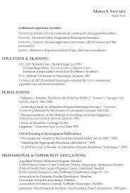 resume attorney civil litigation mediation and teaching senior attorney resume