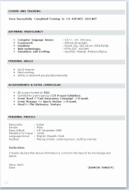 12 Unique Gallery Of Normal Resume Format Word Creative Resume