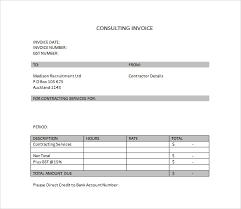 Consulting Invoice Template Free Po Box Address Gkwiki