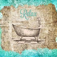 relax bathroom vintage wall canvas art decor bathtub wall art illustration turquoise vintage paper newspaper canvas on vintage wall art canvas with best vintage bathroom wall art products on wanelo