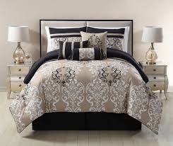 image of taupe bedspread sets