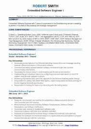 Experienced Software Engineer Resumes Embedded Software Engineer Resume Samples Qwikresume