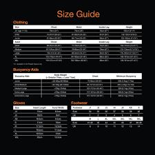 Crewsaver Size Chart 73 Timeless Crewsaver Drysuit Size Chart