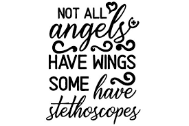 Freesvg.org offers free vector images in svg format with creative commons 0 license (public domain). Not All Angels Have Wings Some Have Stethoscopes You Will Receive This Design In The Following Formats Svg File In 2020 Stethoscopes Wings Unique Items Products