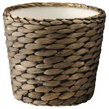 DRUVFLDER plant pot, water hyacinth, gray Height: 4