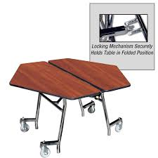 school table. Quick Ship Multi-Purpose Mobile Hexagon Folding Tables School Table