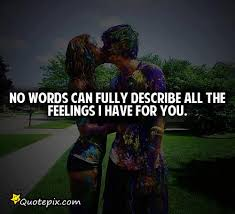 The Love I Have For You Quotes No Words Can Fully Describe All The Feeling I Have For You 44