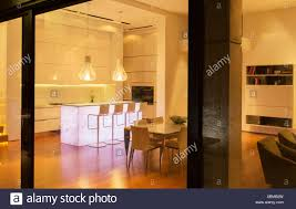 kitchen counter window. Kitchen And Dining Area In Modern House - Stock Image Counter Window