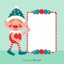 Blank Christmas Background Christmas Background Elf Holding Blank Sign Vector Free Download