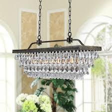 aliexpress com vintage rectangular chandeliers led lighting modern glass drops chandelier light for home hotel wedding centerpieces decoration from