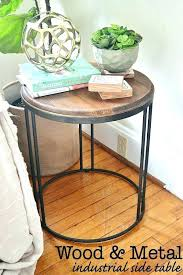 side tables rustic round side table industrial end ideas black tables australia