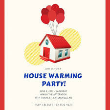 Housewarming Card Templates House Warming Invitation Templates By Canva