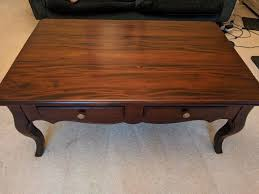 mahogany wood coffee table vintage french style