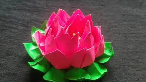 How To Make A Lotus Flower Out Of Paper How To Make An Origami Lotus Flower Diy Projects Do It Yourself Diy Ideas Diy Craft Instructions