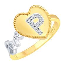 Buy Vighnaharta Valentine Love P Letter In Heart Cz Gold And