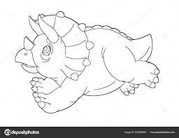 Dino Kleurplaat Triceratops Dejachthoorn
