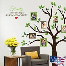 timber artbox large family tree photo frames wall decal the sweetest highlight on wall art stickers family tree with family tree removable d cor wall decals art ebay