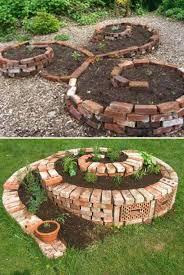 brick garden edging. garden-backyard-brick-projects-5 brick garden edging