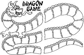 template of a dragon ideas to help you teach chinese dragon board game