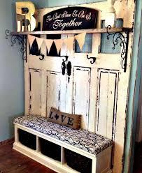 Old Door Coat Rack And Bench Classy Stable Doors Shoe Bench And Coat Rack Homebnc