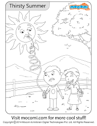 Well…i searched for coloring pages then click on the image to open full size in new browser window. Thirsty Summer Colouring Page Jojo Colouring Pages For Kids Mocomi