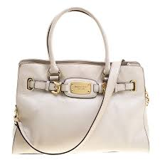 michael michael kors white leather east west hamilton tote nextprev prevnext