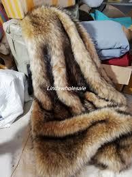 High-grade Camel color thick imitation raccoon long plush fabric,felt ...