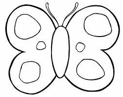 Farfalla Estremamente Semplice Da Colorare Per Bambini Piccoli