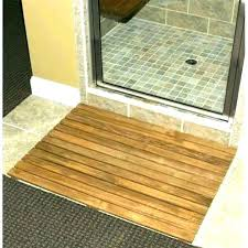 floor mats outdoor teak shower mat wood