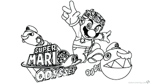 Printable Mario Coloring Pages Printable Coloring Pages Odyssey