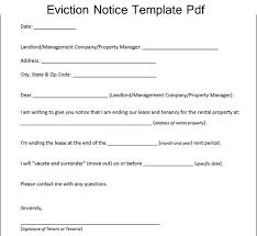 Free Eviction Notices Templates Sample Eviction Notice Template Pdf Excelabout Com Pinterest