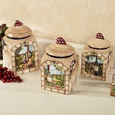Grape Kitchen Decor Accessories Tuscan View Wine Grapes Kitchen Canister Set Kitchen canister 54