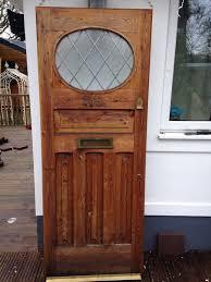 1930s front door art deco old timber wooden reclaimed period gl antique