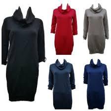 Details About Women S New Esprit Cowl Neck Jumper Dress Uk Sizes 6 8 10 12 14 16 Rrp 35
