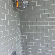 grey white tiles grey subway tiles white square tiles grey grout kitchen